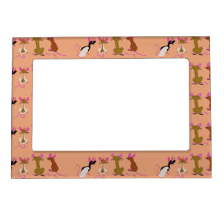 Four Cute Rats Magnetic Frame