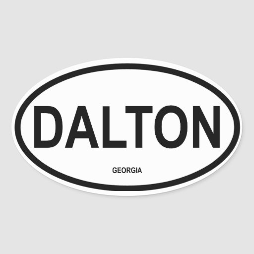 FOUR Dalton, Georgia Oval Sticker