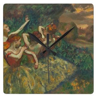 Four Dancer by Degas Square Clock