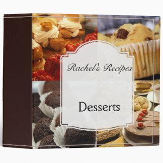 Four Dessert Panel on Chocolate Binder