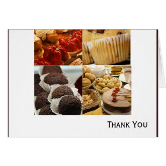 Four Dessert Panel on Chocolate Brown Card