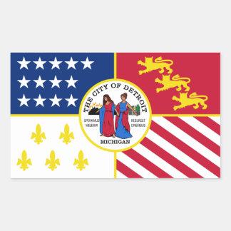 FOUR Detroit Flag Rectangular Sticker