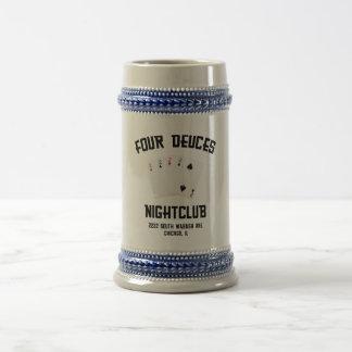 Four Deuces 18 Oz Beer Stein