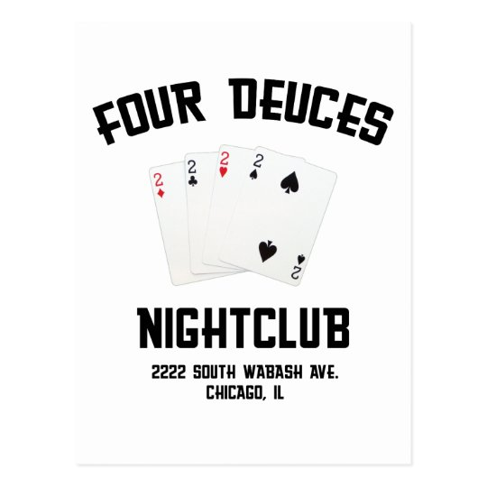 Four Deuces Postcard