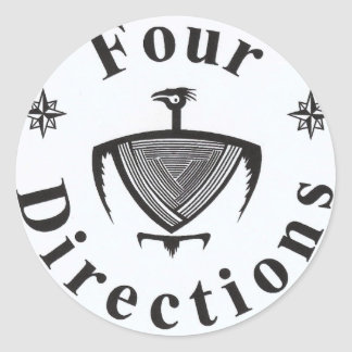 Four Directions Classic Round Sticker