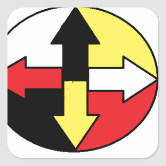 Four Directions Square Sticker