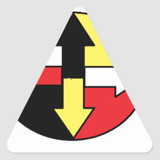 Four Directions Triangle Sticker