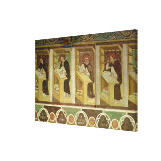 Four Dominican Monks at their Desks, from the cycl Canvas Print