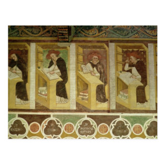 Four Dominican Monks at their Desks, from the cycl Postcard