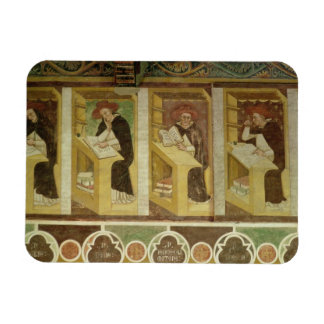 Four Dominican Monks at their Desks, from the cycl Rectangular Photo Magnet