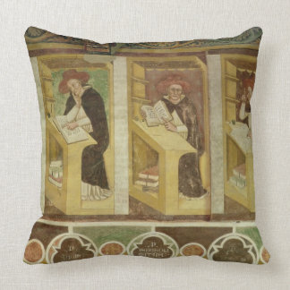 Four Dominican Monks at their Desks, from the cycl Throw Pillow