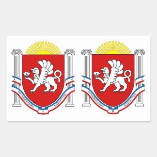 FOUR DOUBLE Emblem of Crimea Rectangular Sticker