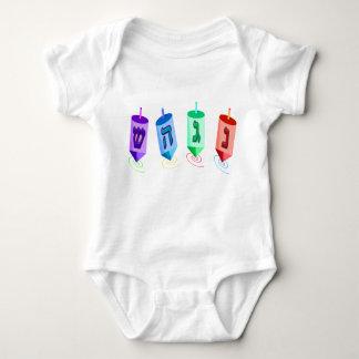 Four Dreidels 2-Sided Infant Creeper