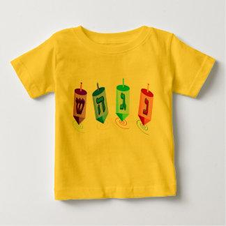 Four Dreidels 2-Sided Infant T-Shirt