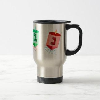 Four Dreidels Travel Mugs