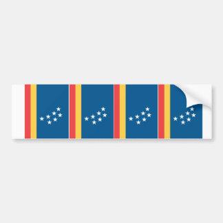 FOUR Durham Flag Car Bumper Sticker