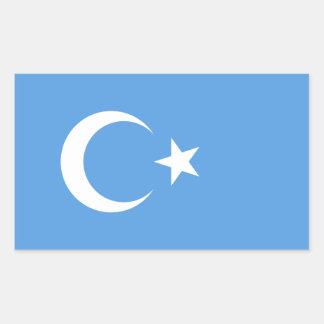 FOUR East Turkestan Uyghur Flag Rectangular Sticker