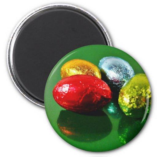 Four Easter Eggs Refrigerator Magnet