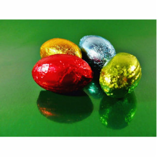 Four Easter Eggs Standing Photo Sculpture