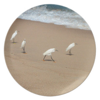 Four Egrets Dinner Plate