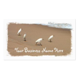 Four Egrets Double-Sided Standard Business Cards (Pack Of 100)