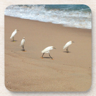 Four Egrets Drink Coaster