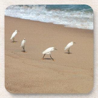 Four Egrets Drink Coaster