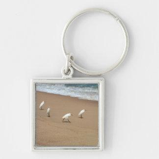 Four Egrets Keychain