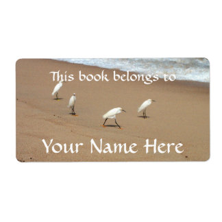 Four Egrets Label