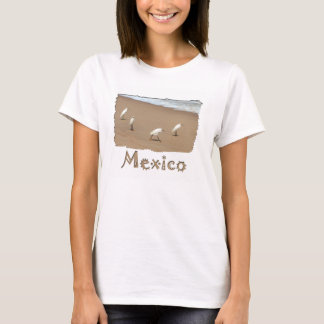 Four Egrets; Mexico Souvenir T-Shirt