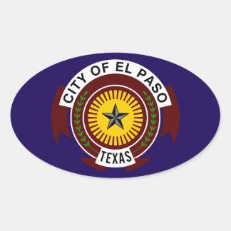 FOUR El Paso Flag Oval Sticker