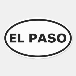 FOUR El Paso Oval Sticker