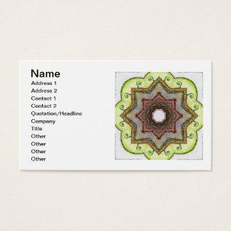 Four Elements Earth Mandala Business Card