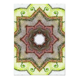 Four Elements Earth Mandala 5x7 Paper Invitation Card