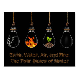 Four Elements: Earth, Water, Air, and Fire Postcard