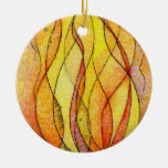 Four Elements Fire Double-Sided Ceramic Round Christmas Ornament