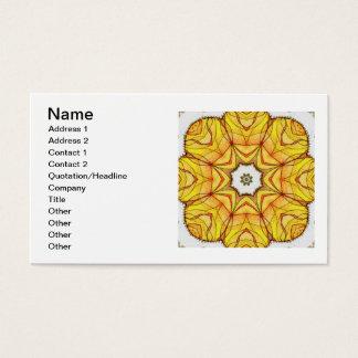 Four Elements Fire Mandala Business Card