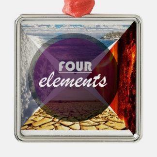four elements.jpg adorno navideño cuadrado de metal