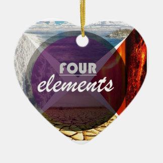 four elements.jpg adorno navideño de cerámica en forma de corazón