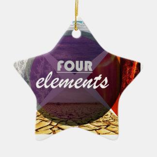 four elements.jpg adorno navideño de cerámica en forma de estrella