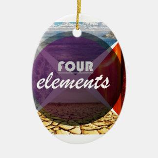 four elements.jpg adorno navideño ovalado de cerámica
