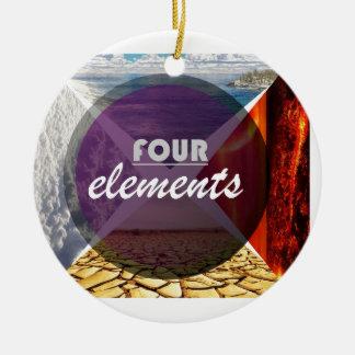 four elements.jpg adorno navideño redondo de cerámica