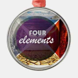 four elements.jpg adorno navideño redondo de metal