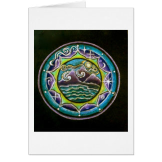 Four Elements Mandala  Greeting Card