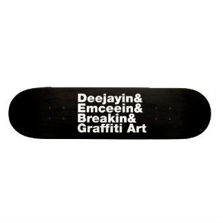 Four Elements of Hip Hop Skateboard Deck