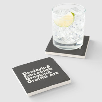 Four Elements of Hip Hop Stone Coaster