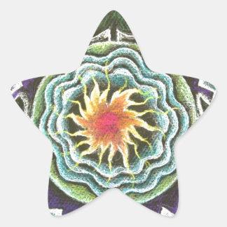Four Elements Sun Mandala Star Sticker