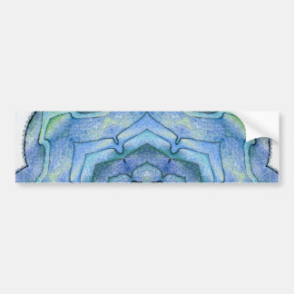 Four Elements Water Mandala Bumper Sticker