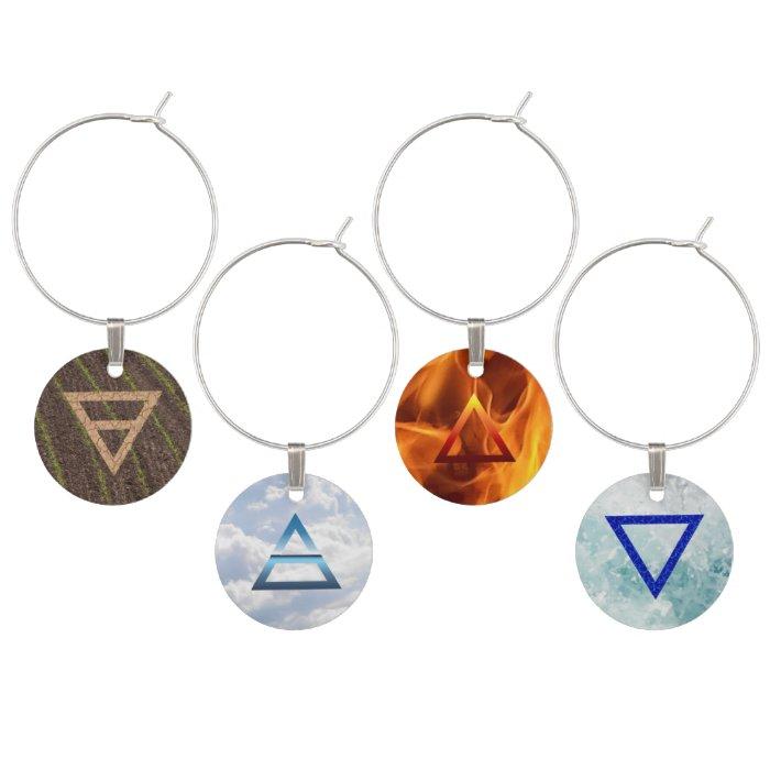 four elements wine glass charms zazzle