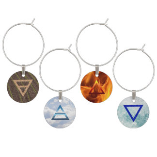 Four Elements Wine Glass Charms